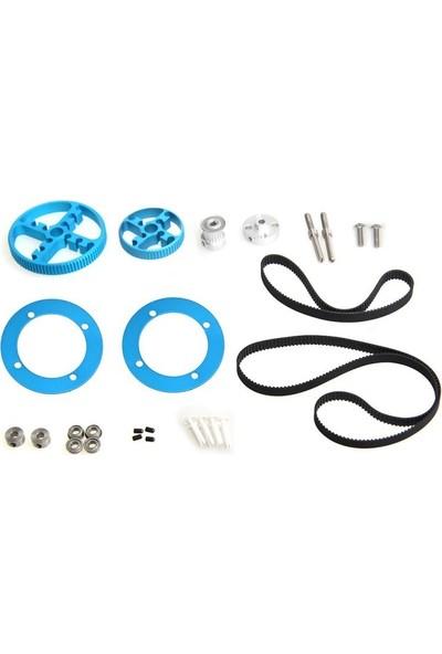 Makeblock Triger Kayışı ve Kasnak Seti - Timing Belt Motion Pack - Blue - 95040