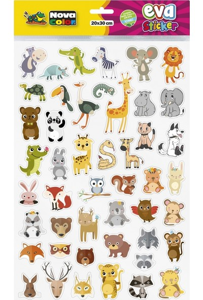 Nova Color NC-681 Safari Hayvanları Sticker Eva