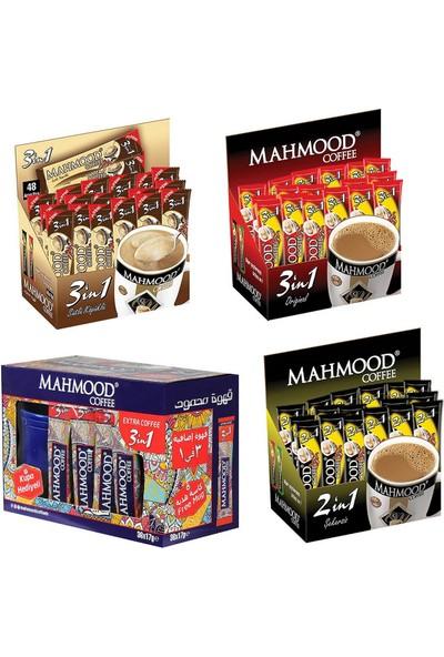 Mahmood Coffee 3'ü 1 arada ve 3'ü 1 arada Sütlü Köpüklü ve 2'si 1 Arada 3'lü Set 48 ve 3'ü 1 Arada Extra Kahve (36 ) x 4