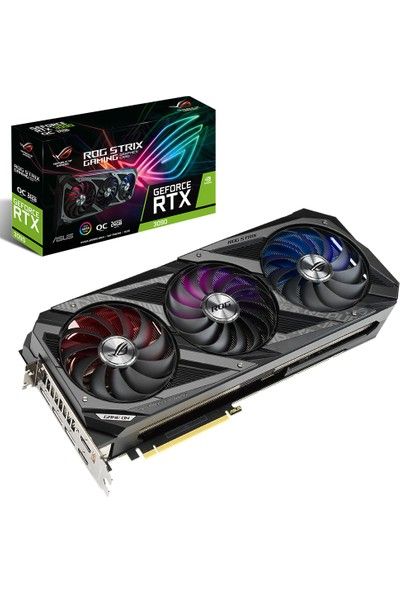Asus GeForce RTX 3090 OC 24GB 384Bit GDDR6X (DX12) PCI-Express 4.0 Ekran Kartı (ROG-STRIX-RTX 3090-O24G-GAMING)