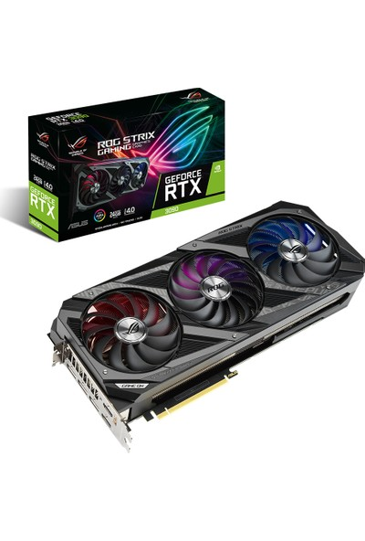 Asus GeForce RTX 3090 OC 24GB 384Bit GDDR6X (DX12) PCI-Express 4.0 Ekran Kartı (ROG-STRIX-RTX 3090-24G-GAMING)