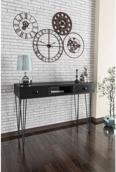 Wood House-Ela Dresuar-Siyah