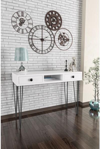 Wood House-Ela Dresuar-Beyaz Beyaz