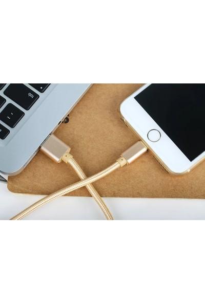Reddax Iphone Hızlı Şarj Kablosu 2.4A 1m Gold