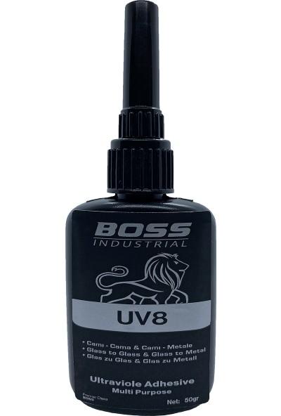 Boss Uv8 Cam Yapıştırıcı 50 gr Şeffaf