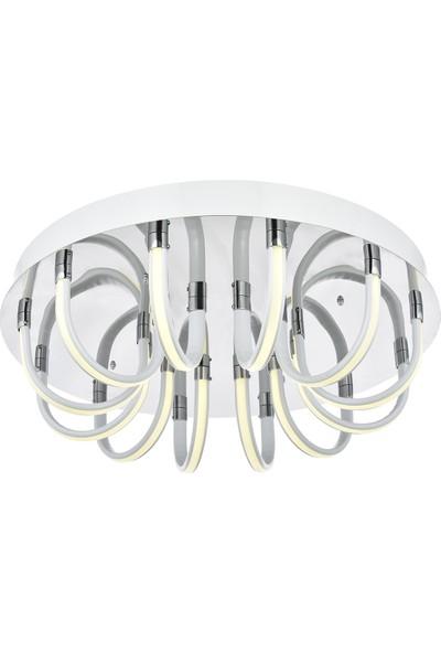 Avize Moda Pierina 12'li LED Plafonyer Avize - Beyaz