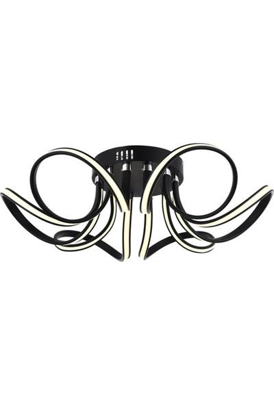 Avize Moda Nonemi 6'lı LED Plafonyer Avize - Siyah