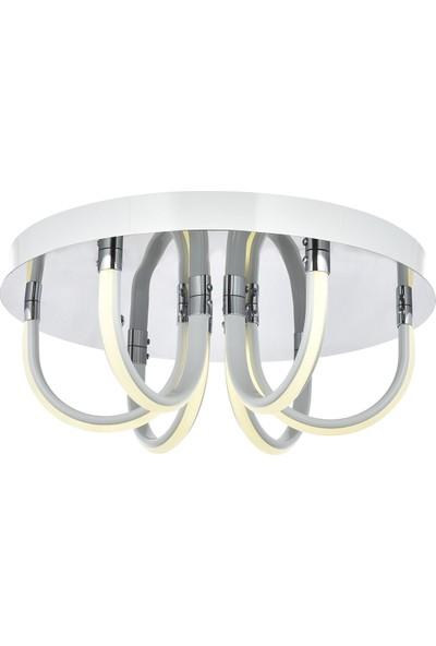 Avize Moda Pierina 6'lı LED Plafonyer Avize - Beyaz