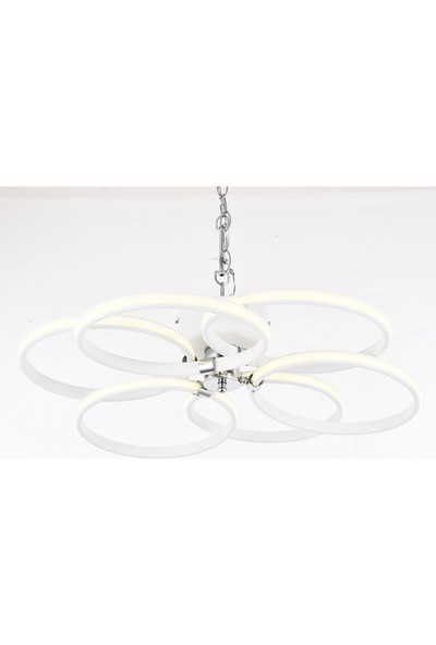 Avize Moda Mekselina 6'lı LED Plafonyer Avize - Beyaz