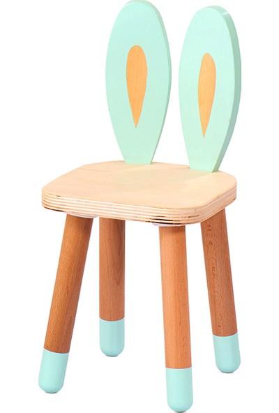 Neone Montessori Çocuk Masa Sandalye Takımı Tavşan Kulak