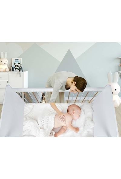BabyBee Gold White Mobilya Beşik 60 x 120