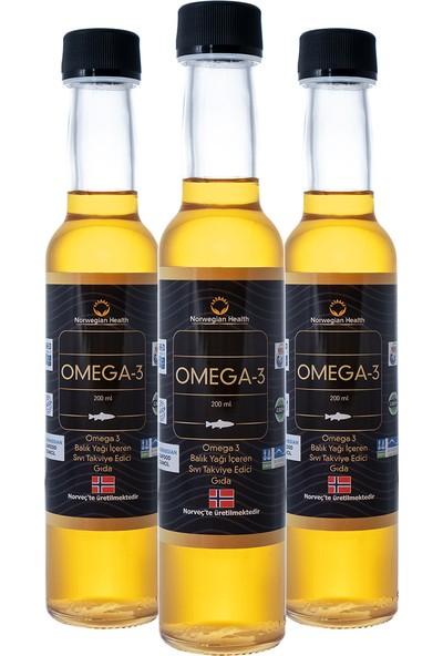 Norwegian Health Omega-3 200 ml x 3 Adet