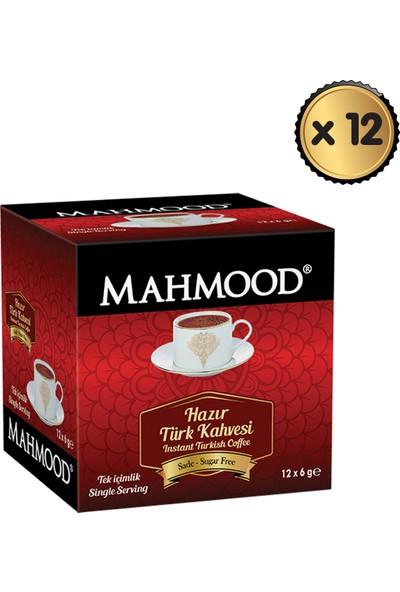 Mahmood Coffee Hazır Türk Kahvesi Sade 6 gr x 12 Paket (1 Koli)