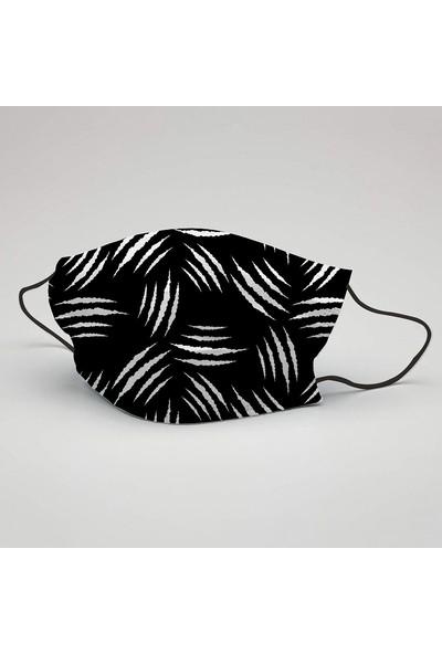 Siyah Beyaz Çift Renk Yıkanabilir Maske (5 Adet)