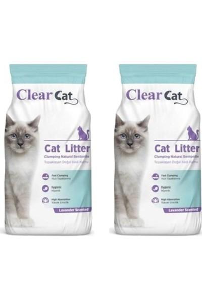 Clear Cat Lavanta Kokulu İnce Taneli Kedi Kumu 10 kg x 2 Adet