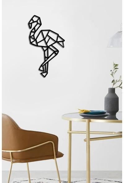 İnnova Metal Flamingo Metal Tablo, Lazer Kesim Metal Tablo 35 x 20 cm