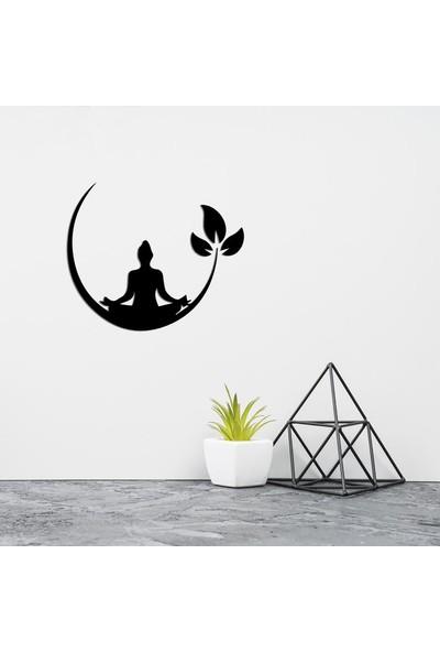 İnnova Metal Yoga Motifli Metal Tablo, Metal Ev Duvar Dekoru 27 x 33 cm