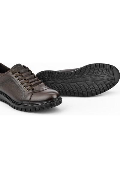 Ziya Erkek Deri Ayakkabı 103415 331014 Kahve