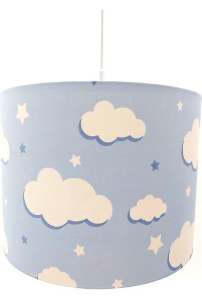 Uyumamy Mavi Bulutlu Bebek Çocuk Genç Odası Avize