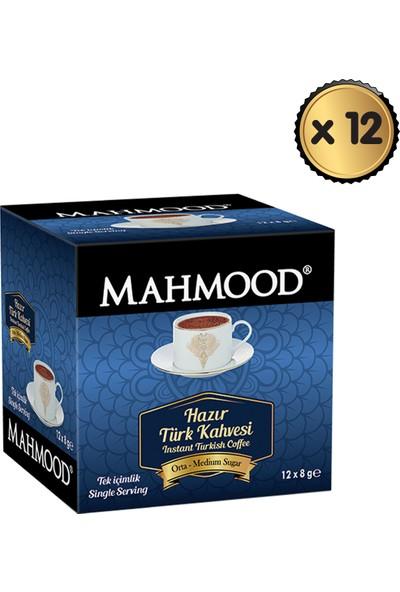 Mahmood Coffee Hazır Türk Kahvesi Orta 8 gr x 12 Paket (1 Koli)
