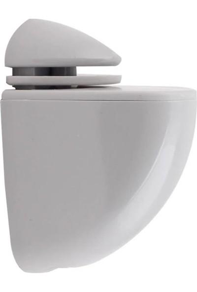 Metali Pelikan Plastik Cam Raf Tutucu Etejer Kırılmaz Beyaz