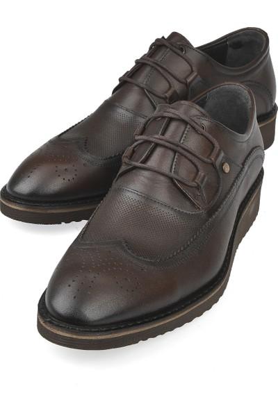 Ziya Erkek Deri Ayakkabı 103498 1324 Kahve