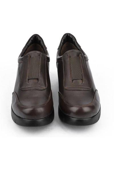 Ziya Kadın Deri Ayakkabı 101353 705 Kahve
