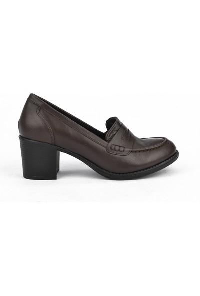 Ziya Kadın Deri Ayakkabı 101353 7075 Kahve