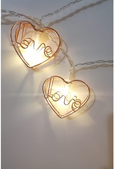 Deconorm Mini Kalpli Metalik 10 Led'li Dolama Dekor Işıkları