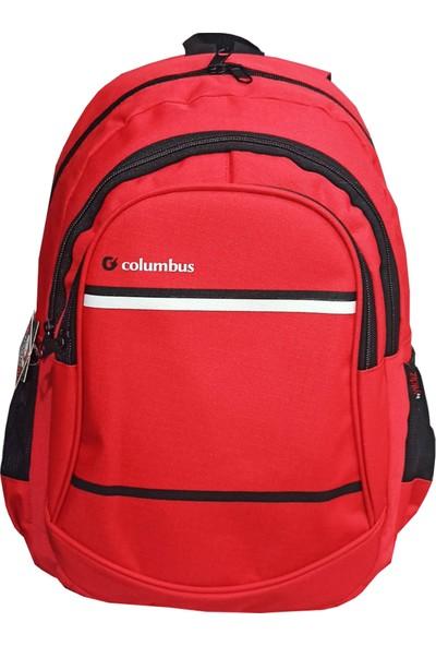 Columbus Seyahat Okul Sırt Çantası Kırmızı