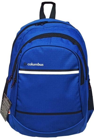 Columbus Seyahat Okul Sırt Çantası Koyu Mavi