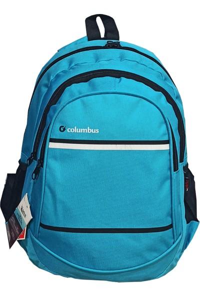 Columbus Seyahat Okul Sırt Çantası Mavi
