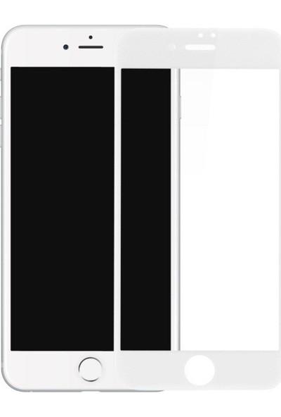 Logis Apple iPhone Se 2020 5d Tam Kaplayan Ekran Koruyucu Cam Beyaz