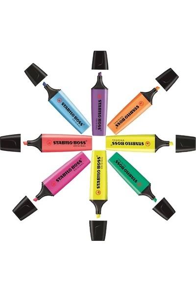 Stabilo Boss Fosforlu Işaretleme Kalemi Karışık Renk 8'li Set + Özel Kesim Şairler Kitap Ayracı