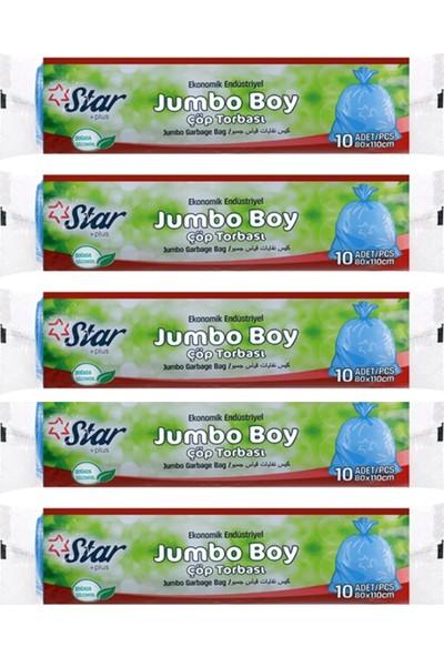 Star Plus Çöp Torbası Jumbo Boy - 5'li Paket - 80 X110 cm
