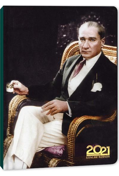 Keskin Color Günlük Ajanda Atatürk Türk Kahvesi 2021 14 x 20 cm