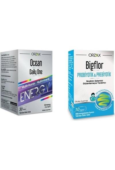 Orzax Ocean Daily One Energy Vitamin Tb + Bigflor Probiotik Kapsül