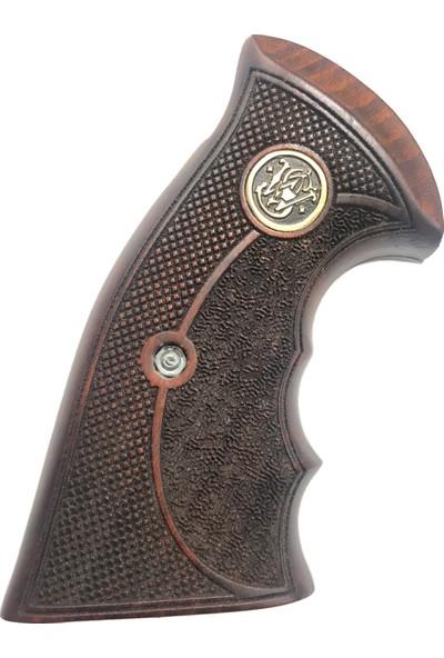 Arslantaş Smith Wesson Toplu Lazer Kesim Ahşap Kabze MOD13