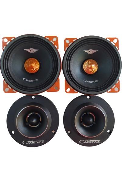 Cadence XR45TW 4 Inch 75W(25RMS) 10cm Midrange + 96MM Tweeter Set