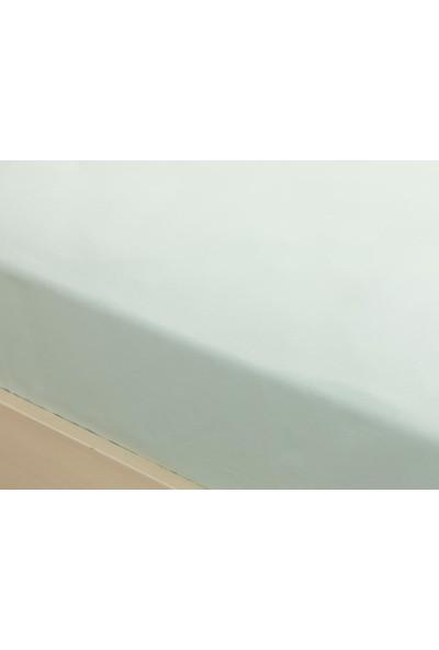 English Home Düz Pamuklu Tek Kişilik Lastikli Çarşaf 100x200 cm Açık Seledon