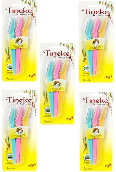 Tineke 3'lü Kaş Usturası 5 Paket