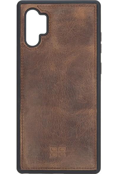 Bouletta Samsung Galaxy Note 10 Plus Kahve FXC Deri Telefon Kılıfı