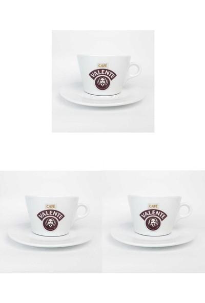 Cafe Valente Double Cappuccino Fincan + Tabak 3 ad