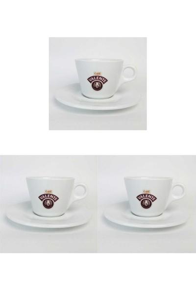 Cafe Valente Cappuccino Fincan + Tabak 3 ad