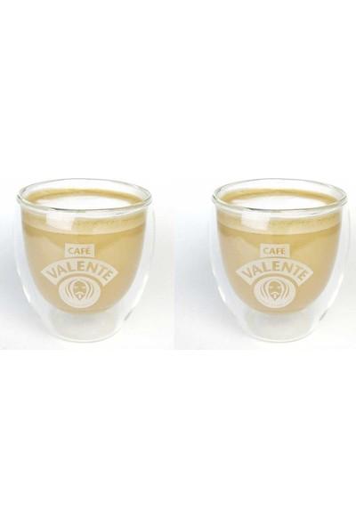 Cafe Valente Termo Cam Cappuccino Bardağı 2 ad 250 cc