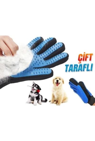 True Touch Çift Taraflı Kedi & Köpek Tüy Toplama Masaj & Kaşıma Eldiveni