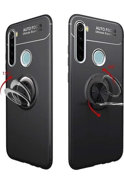 Hesaplı Dünya Xiaomi Redmi Note 8t Kılıf Selfie Yüzüklü Esnek Silikon Rvl