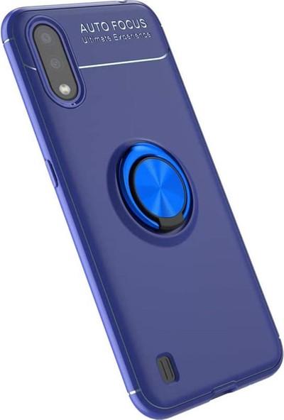 Hesaplı Dünya Samsung Galaxy A01 Kılıf Selfie Yüzüklü Esnek Silikon Rvl