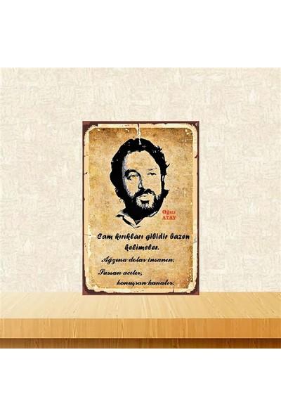 Selens Oğuz Atay 20 x 30 cm Retro Ahşap Poster