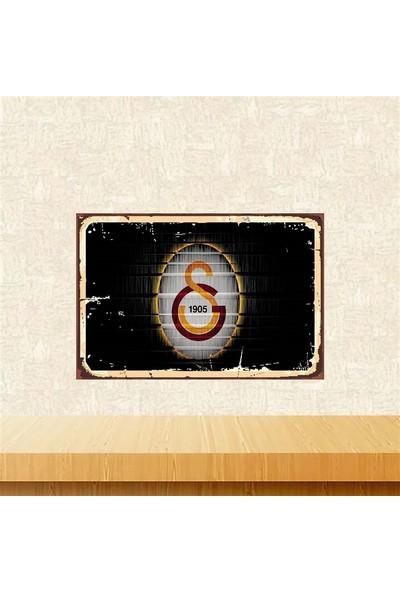Selens Galatasaray 20 x 30 cm Retro Ahşap Poster